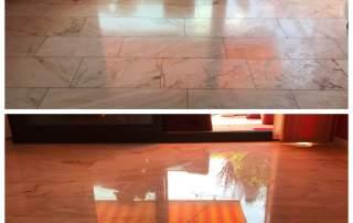 Estremoz Marmor - Schleifen + Kristallisation